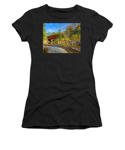 Everett Covered Bridge  Women's T-Shirt (Athletic Fit)