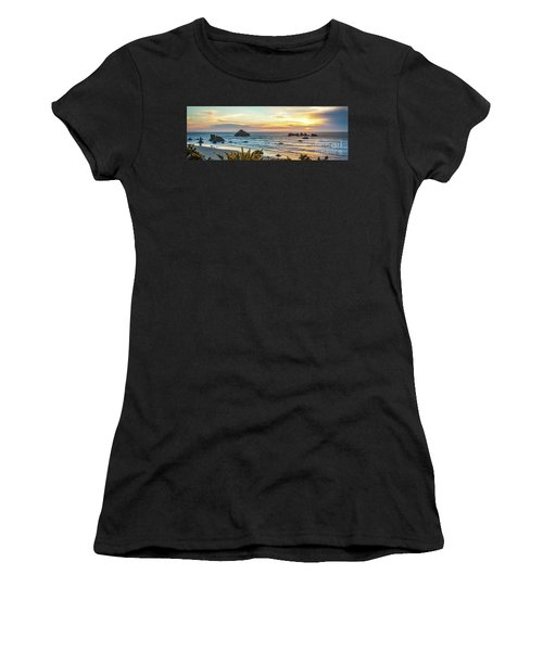 Face Rock At Sunset Women's T-Shirt (Athletic Fit)