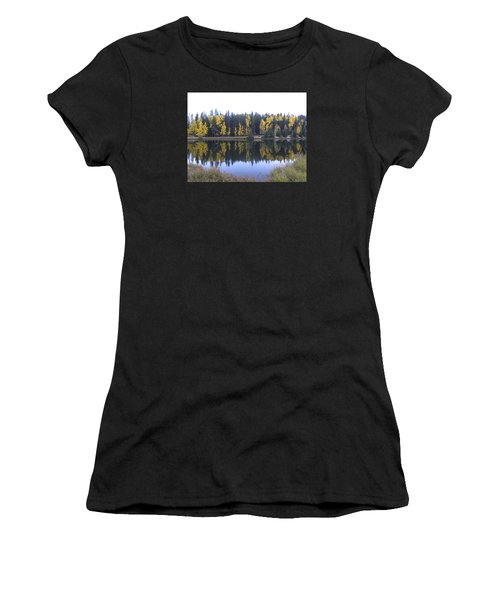 Potty Pond Reflection - Fall Colors Divide Co Women's T-Shirt