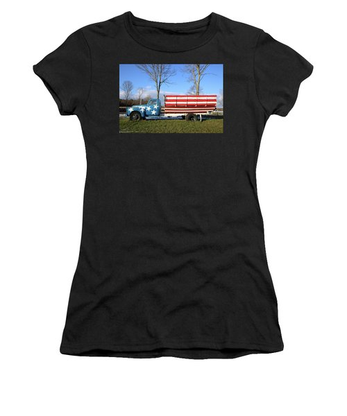 Farm Truck Wading River New York Women's T-Shirt (Athletic Fit)