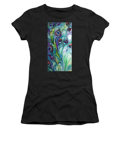Feathers Peacock Abstract Women's T-Shirt