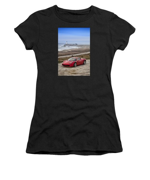 Women's T-Shirt featuring the photograph Ferrari 458 Italia by ItzKirb Photography