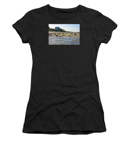 Fighting Conchs At Lowdermilk Park Beach In Naples, Fl Women's T-Shirt (Athletic Fit)