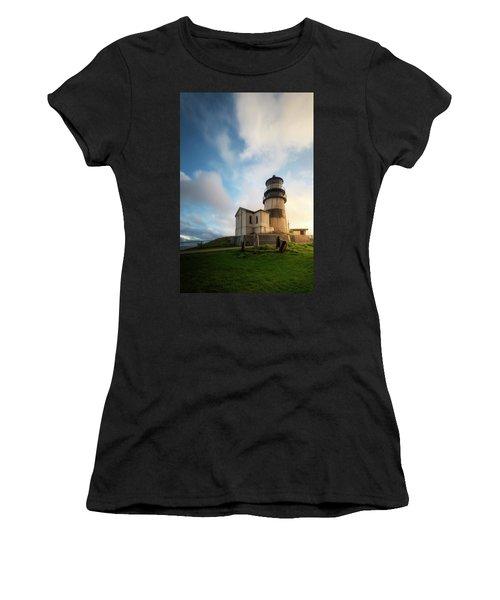 Women's T-Shirt (Junior Cut) featuring the photograph First Light by Ryan Manuel