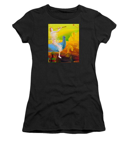 Flight Of The Soul Women's T-Shirt (Athletic Fit)