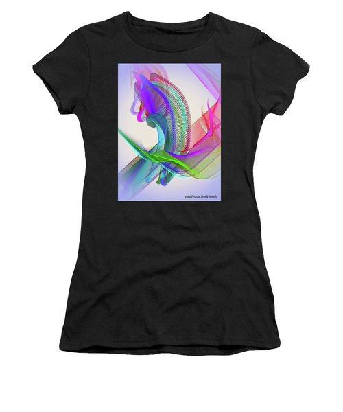Women's T-Shirt featuring the digital art Flower Vase by Visual Artist Frank Bonilla