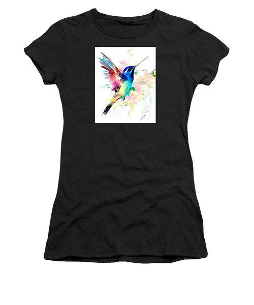 Flying Hummingbird Women's T-Shirt (Athletic Fit)
