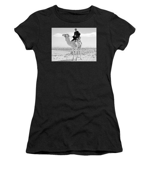 Giza Pyramids Camel Tourist Police Women's T-Shirt