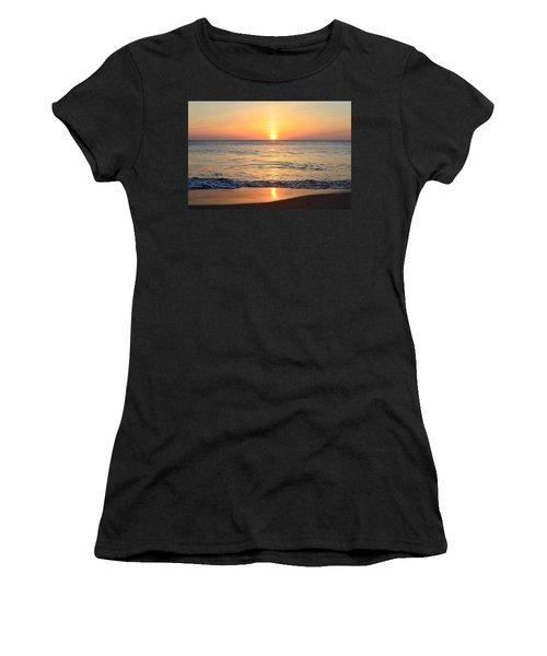 Women's T-Shirt featuring the photograph Golden Sunrise  by Barbara Ann Bell