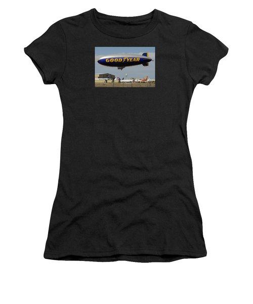 Goodyear Blimp Spirit Of Innovation Goodyear Arizona September 13 2015 Women's T-Shirt (Athletic Fit)