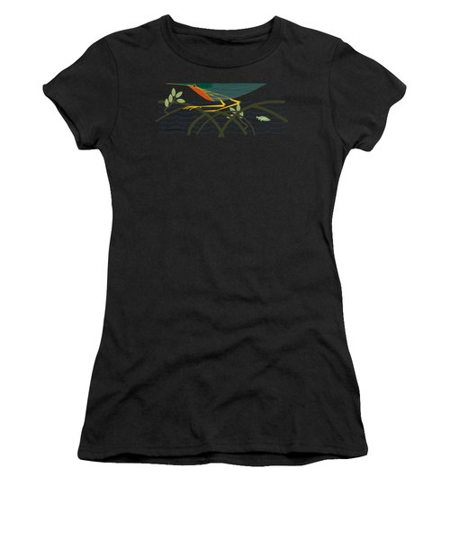 Green Heron Women's T-Shirt (Athletic Fit)