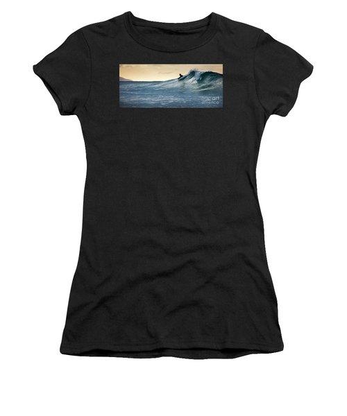 Hawaii Bodysurfing Sunset Polihali Beach Kauai  Women's T-Shirt