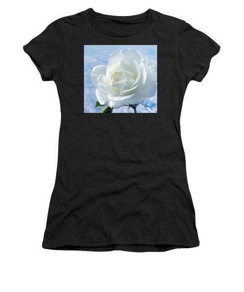 Heavenly White Rose. Women's T-Shirt (Athletic Fit)