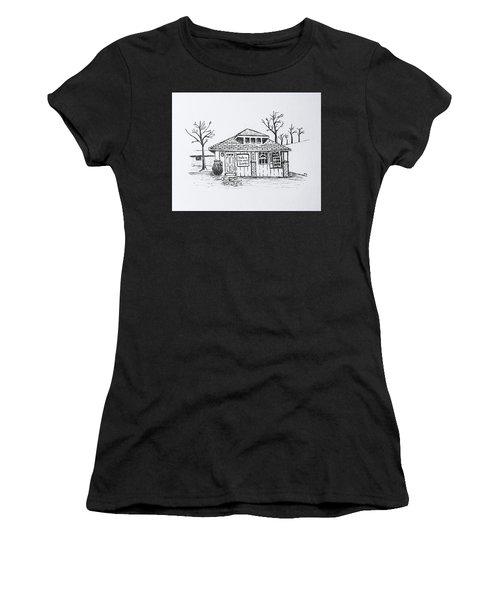 Hole In The Wall Books Women's T-Shirt (Athletic Fit)