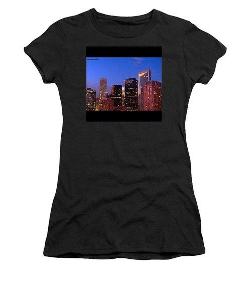 #houston #skyline At Dusk. #night Women's T-Shirt