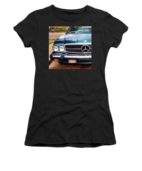I Love #vintage #cars (and Jewelry Too) Women's T-Shirt (Athletic Fit)