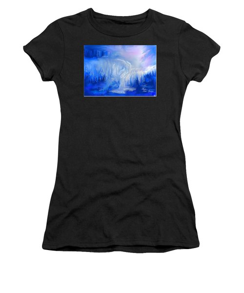 Ice Falls Women's T-Shirt (Athletic Fit)