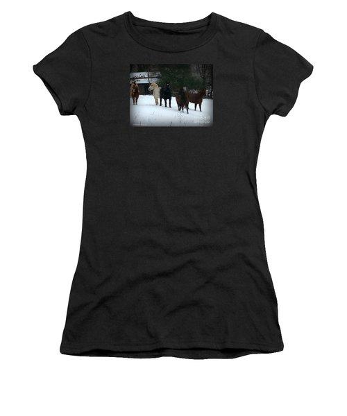 It Snowed Women's T-Shirt (Athletic Fit)