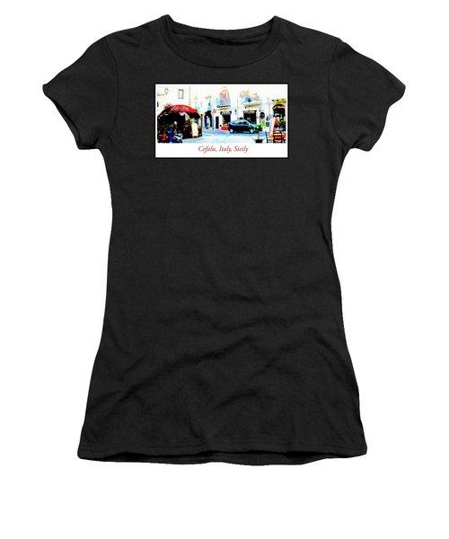 Italian City Street Scene Digital Art Women's T-Shirt