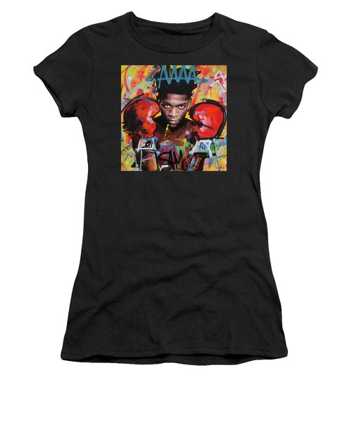 Jean Michel Basquiat Women's T-Shirt (Athletic Fit)