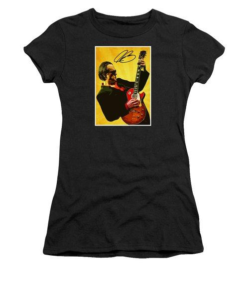 Joe Bonamassa Women's T-Shirt (Junior Cut) by Semih Yurdabak