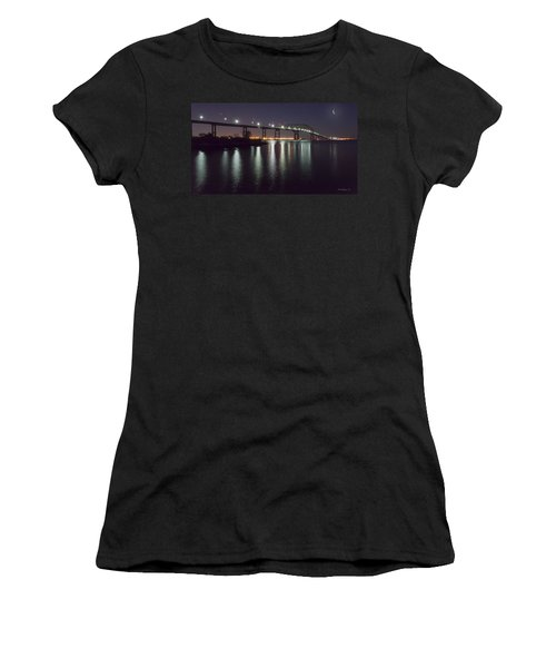 Key Bridge At Night Women's T-Shirt (Athletic Fit)