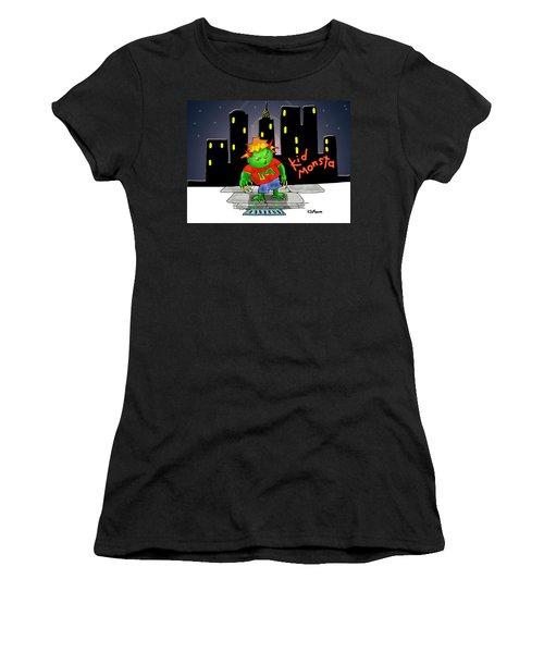 Kidmonsta Women's T-Shirt (Athletic Fit)