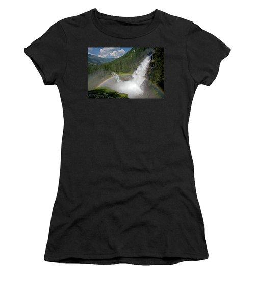 Krimml Waterfall And Rainbow Women's T-Shirt