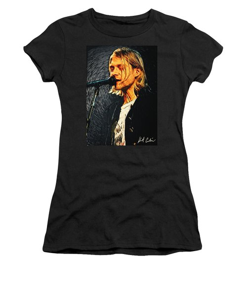 Kurt Cobain Women's T-Shirt (Athletic Fit)