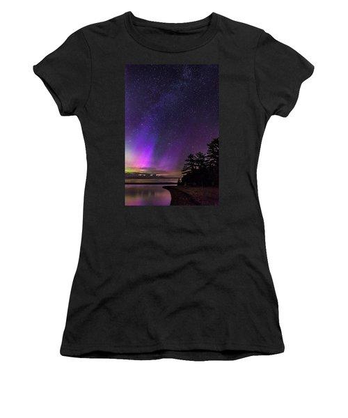 Lake Winnipesaukee Aurora Borealis Women's T-Shirt