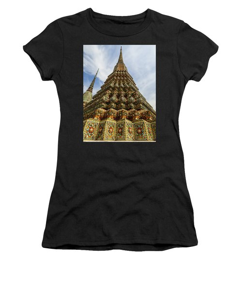 Large Colorful Stupa At Wat Pho Temple Women's T-Shirt