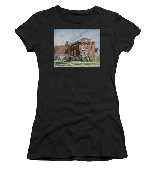 Women's T-Shirt featuring the painting Last House Standing by Ingrid Dohm