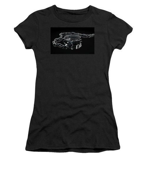 Leather Studded Collar And Chain Women's T-Shirt