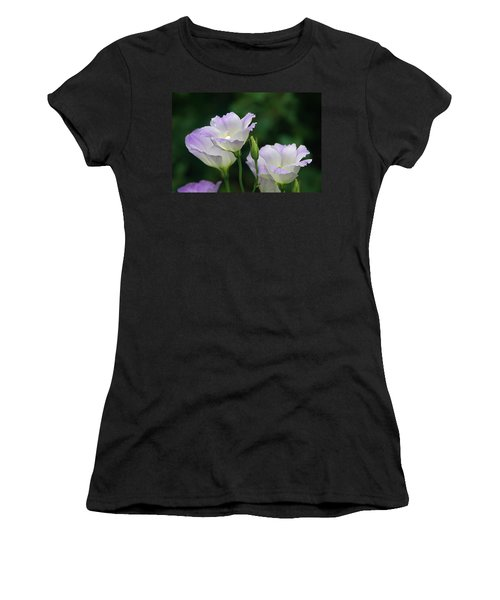 Women's T-Shirt (Junior Cut) featuring the photograph Lovely Lisianthus by Byron Varvarigos