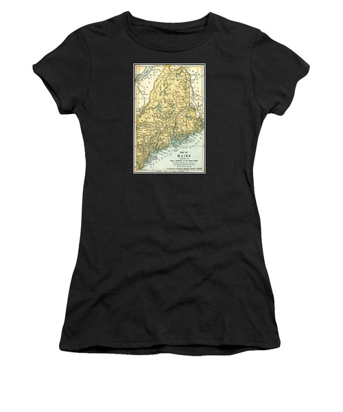 Maine Antique Map 1891 Women's T-Shirt
