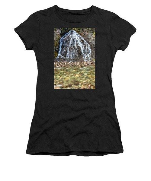 Cascades Of Maligne Canyon Women's T-Shirt