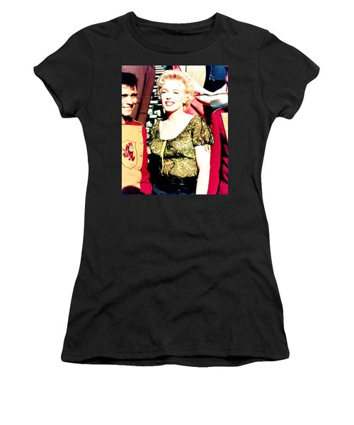 Women's T-Shirt (Athletic Fit) featuring the photograph Marilyn Monroe by R Muirhead Art