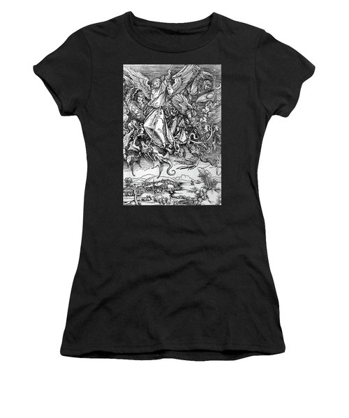Michael Defeats Satan Women's T-Shirt