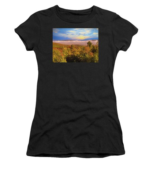 Morning Autumn Landscape Northern New Hampshire Women's T-Shirt