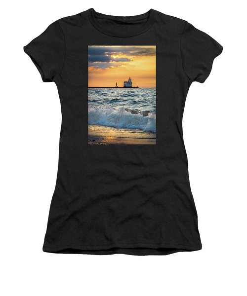 Morning Dance On The Beach Women's T-Shirt (Athletic Fit)