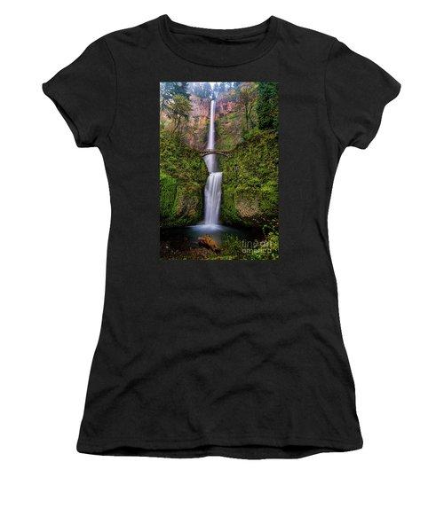Multnomah Falls Women's T-Shirt (Athletic Fit)