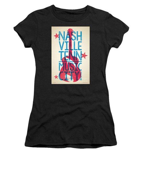 Nashville Poster - Tennessee Women's T-Shirt