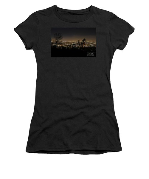 Night At Griffeth Observatory Women's T-Shirt (Junior Cut) by Clayton Bruster
