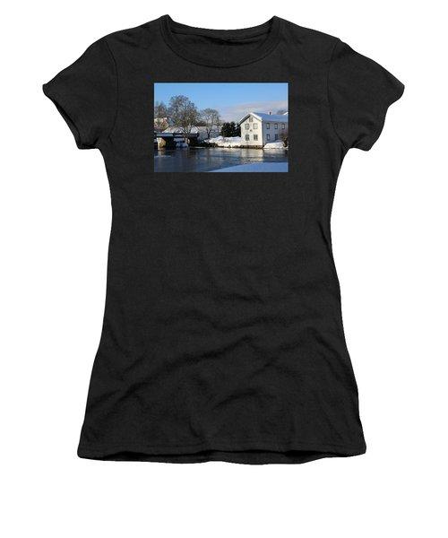 Norwegian Winter Landscape  Women's T-Shirt (Athletic Fit)