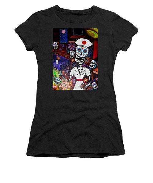 Nurse Dia De Los Muertos  Women's T-Shirt