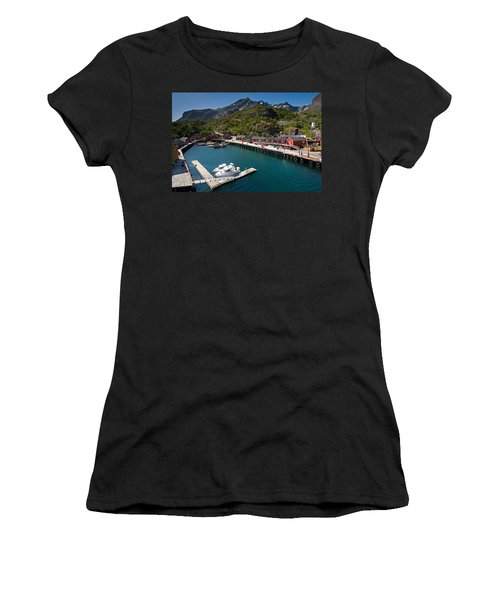 Nusfjord Fishing Village Women's T-Shirt (Athletic Fit)