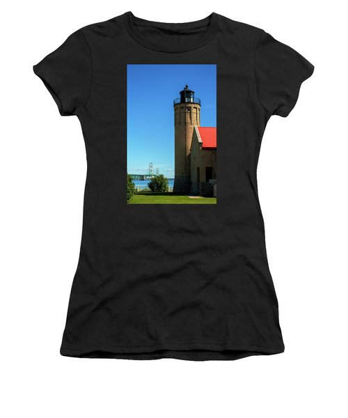 Old Mackinac Point Lighthouse Women's T-Shirt (Athletic Fit)