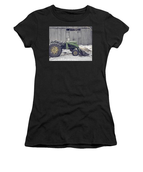 Old Tractor By The Grey Barn Women's T-Shirt