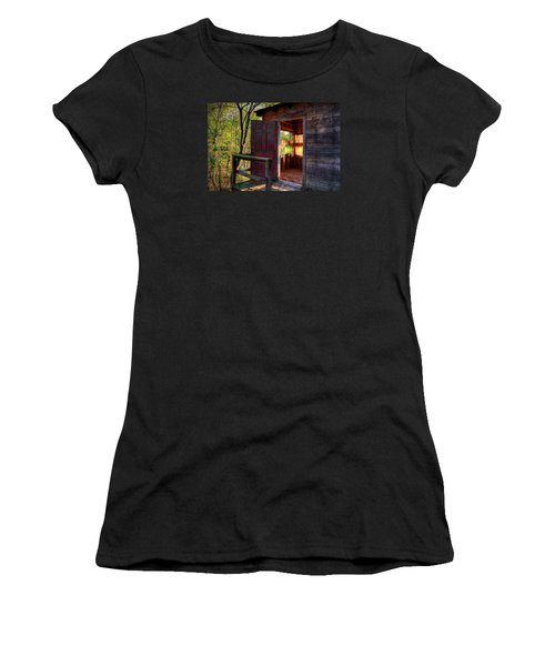 Open Door Women's T-Shirt (Athletic Fit)
