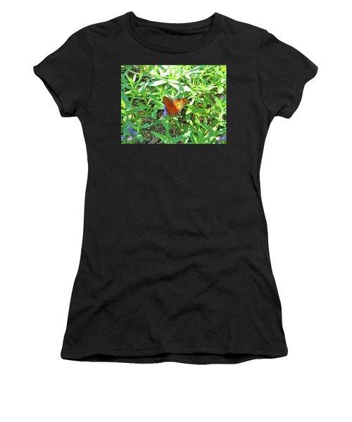 Orange Butterfly Women's T-Shirt